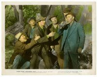 6r016 NIGHTMARE ALLEY color 8x10 still '47 cool image of Tyrone Power w/bums fighting over bottle!
