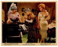 6r019 PRINCE & THE SHOWGIRL color 8x10 still #11 '57 Marilyn Monroe w/two women in fancy dresses!