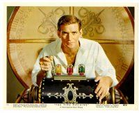 6r026 TIME MACHINE color 8x10 still #12 '60 classic c/u of Rod Taylor about to use his invention!