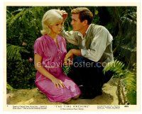 6r027 TIME MACHINE color 8x10 still #9 '60 close up of Rod Taylor & sexy Yvette Mimieux kneeling!