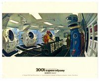 6r031 2001: A SPACE ODYSSEY English FOH LC '68 Kubrick, astronaut in ship in Cinerama!