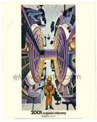 6r029 2001: A SPACE ODYSSEY English FOH LC '68 Kubrick, cool vertical art by Bob McCall, Cinerama!