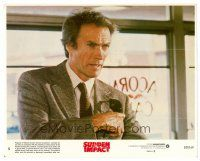 6r023 SUDDEN IMPACT 8x10 mini LC #5 '83 Clint Eastwood is at it again as Dirty Harry, great image!