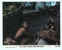 6r024 TEXAS CHAINSAW MASSACRE 8x10 mini LC #5 '74 Tobe Hooper cult classic, c/u of terrified girl!