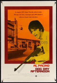6s031 DOG DAY AFTERNOON linen int'l 1sh '75 Al Pacino, Sidney Lumet bank robbery crime classic!