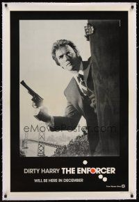 6s033 ENFORCER linen teaser 1sh '76 photo of Clint Eastwood is Dirty Harry by Bill Gold!