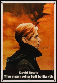 6s075 MAN WHO FELL TO EARTH linen 1sh '76 Nicolas Roeg, different image of David Bowie!