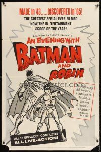 6t008 BATMAN 1sh R65 great different artwork, An Evening with Batman and Robin!