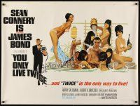 6t301 YOU ONLY LIVE TWICE British quad '67 art of Sean Connery as James Bond by Robert McGinnis!