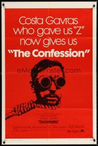 6t021 CONFESSION 1sh '70 L'Aveu, Costa Gavras, Yves Montand, wild hangman image!