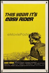 6t027 EASY RIDER style C 1sh '69 Peter Fonda, motorcycle biker classic directed by Dennis Hopper!