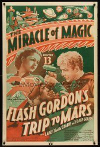6t031 FLASH GORDON'S TRIP TO MARS chapter 13 1sh '38 Rogers watches Buster Crabbe in death struggle