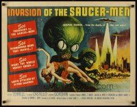 6t160 INVASION OF THE SAUCER MEN 1/2sh '57 classic Kallis art of cabbage head aliens & sexy girl!
