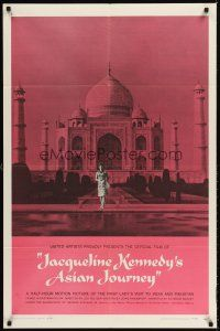 6t044 JACQUELINE KENNEDY'S ASIAN JOURNEY 1sh '62 great image of Jackie in front of Taj Mahal!