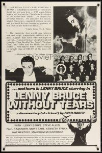 6t048 LENNY BRUCE WITHOUT TEARS 1sh '75 documentary of ingenious comedy of great American satirist!