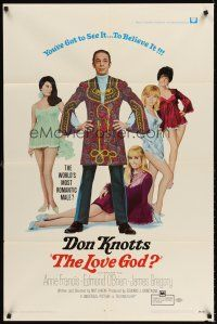 6t051 LOVE GOD 1sh '69 Don Knotts is the world's most romantic male with sexy babes!