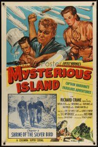 6t057 MYSTERIOUS ISLAND chapter 9 1sh '51 cool sci-fi serial from Jules Verne novel!