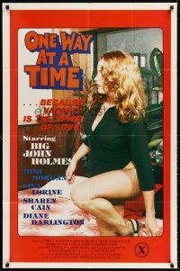 6t064 ONE WAY AT A TIME 1sh '79 sexy Mimi Morgan co-stars with Big John Holmes!