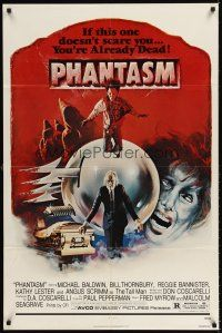 6t066 PHANTASM 1sh '79 if this one doesn't scare you, you're already dead, cool art by Joe Smith!