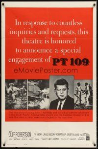 6t070 PT 109 style A 1sh R63 special John F. Kennedy tribute return engagement, different image!