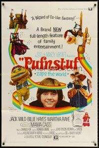 6t071 PUFNSTUF 1sh '70 Sid & Marty Krofft musical, wacky images of characters!