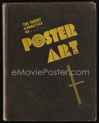 6w060 THEORY & PRACTICE OF POSTER ART hardcover book '34 ultra rare profusely illustrated textbook!
