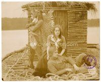 6w028 DEERSLAYER German 8.25x10.25 still #8 '20 Native American Bela Lugosi & co-stars on raft!