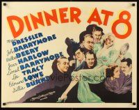 6w004 DINNER AT 8 1/2sh '34 Jean Harlow in one of the most classic all-star romantic comedies!