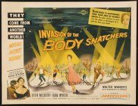 6w002 INVASION OF THE BODY SNATCHERS style B 1/2sh '56 classic spotlight style on no other poster!