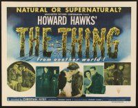 6w003 THING style A 1/2sh '51 Howard Hawks classic horror, shows five scenes from the movie!