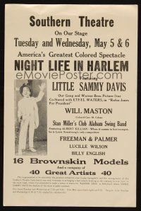 6w053 NIGHT LIFE IN HARLEM herald '33 Little Sammy Davis, Our Gang & Warner Bros. star!