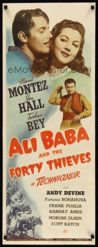 6w008 ALI BABA & THE FORTY THIEVES insert '43 Maria Montez, Jon Hall & Turhan Bey!