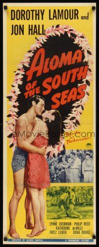 6w009 ALOMA OF THE SOUTH SEAS insert '41 great images of sexy tropical Dorothy Lamour in sarong!