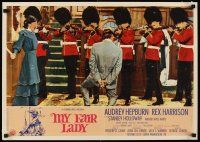 6w015 MY FAIR LADY Italian photobusta '64 fantasy sequence of Audrey Hepburn executing Harrison!