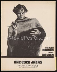 6w058 ONE EYED JACKS information guide '61 different artwork of star & director Marlon Brando!