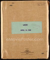 6w016 LAURA revised shooting final script April 18, 1944, screenplay by Jay Dratler!