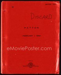 6w020 PATTON shooting draft script Feb 1, 1969, screenplay by Francis Ford Coppola & Edmund H. North