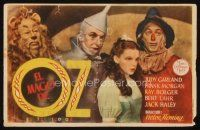 6w069 WIZARD OF OZ Spanish herald '45 Victor Fleming, Judy Garland all-time classic!
