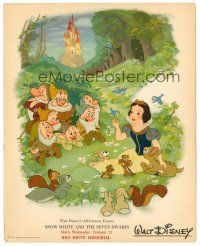 6w051 SNOW WHITE & THE SEVEN DWARFS 8x10 special promo R46 Disney, different art of all stars!