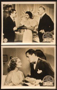 6w049 TROUBLE IN PARADISE 8 English FOH LCs '32 Ernst Lubitsch, Miriam Hopkins, Kay Francis