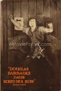 6w043 ROBIN HOOD French program '22 great image of Douglas Fairbanks from U.S. one-sheet!