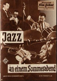 6w037 JAZZ ON A SUMMER'S DAY German program '60 different images of Louis Armstrong & others!