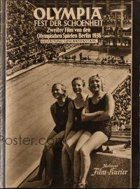 6w034 OLYMPIA PART TWO: FESTIVAL OF BEAUTY German program '38 Leni Riefenstahl Olympic documentary