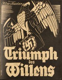 6w032 TRIUMPH OF THE WILL German program '35 Leni Riefenstahl infamous WWII Nazi documentary