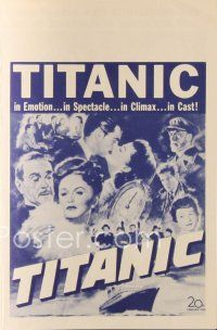6w055 TITANIC herald '53 great images of Clifton Webb & Barbara Stanwyck on legendary ship!