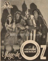 6w068 WIZARD OF OZ Spanish herald '45 Victor Fleming, Judy Garland all-time classic!
