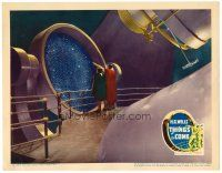 6x009 THINGS TO COME LC '36 future scientists studying the cosmos in incredibly elaborate set!