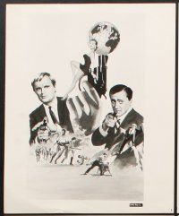6z045 HOW TO STEAL THE WORLD 16 8x10 stills '68 Robert Vaughn, David McCallum, The Man from UNCLE!