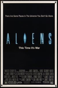 7c015 ALIENS 1sh '86 James Cameron, there are some places in the universe you don't go alone!