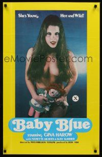 7c025 BABY BLUE 1sh '78 Gina Harow, she's young, hot & wild!